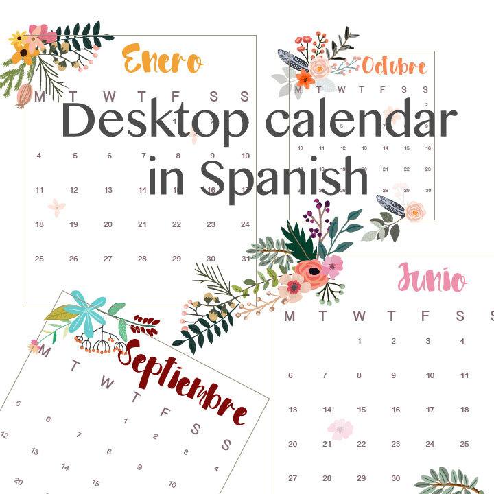Printable Spanish Calendar Calendar Template 2018