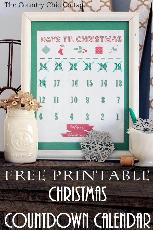 Printable Christmas Countdown Calendar