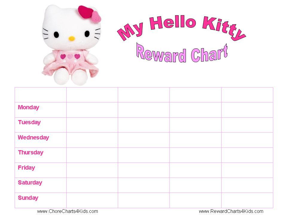 Printable Hello Kitty Reward Charts DuŠan Čech