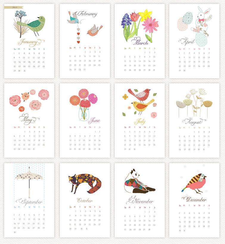 Printable Instagram Mini Calendar — Crafthubs