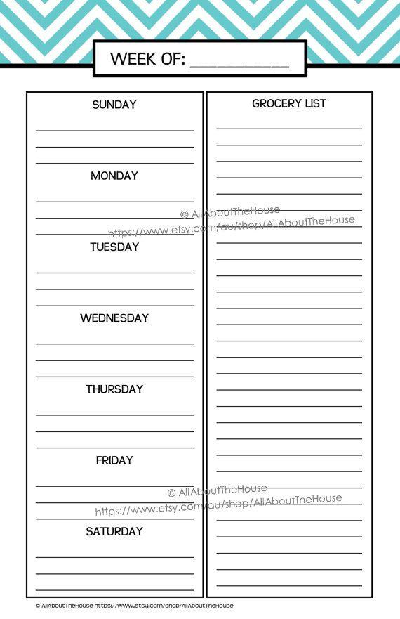 Printable Planner Daily Planner Weekly Planner Calendar Diary Pdf