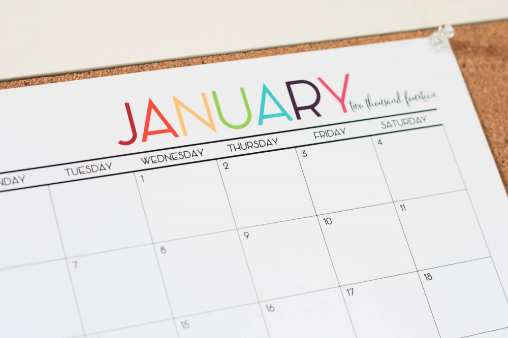 Colorful Printable 2015 Monthly Calendar Worksheet Coloring Pages