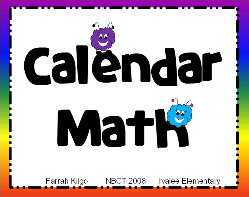 Think   Share   Teach  Calendar Math Routine Freebies