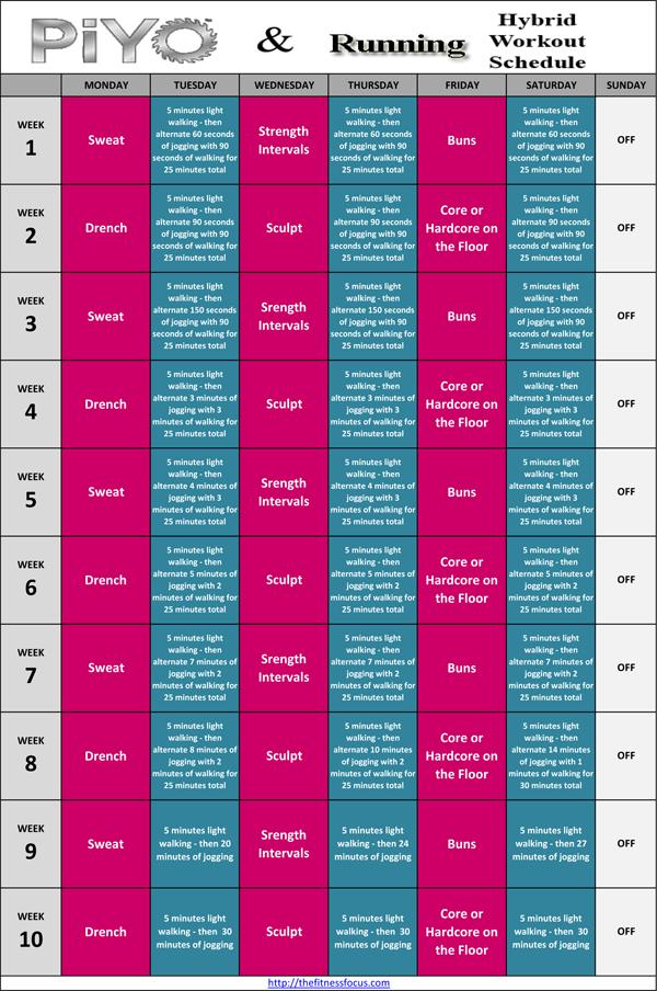 Turbo Fire Calendar Schedule