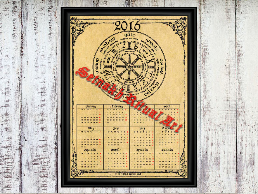 Unique Wiccan Calendar Related Items