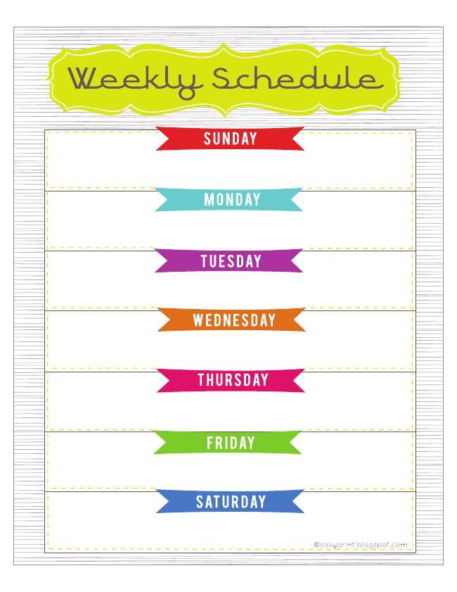 weekly editable calendar