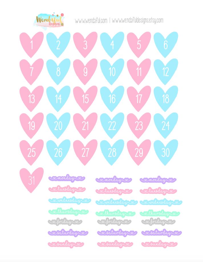 Wendaful Printable Stickers