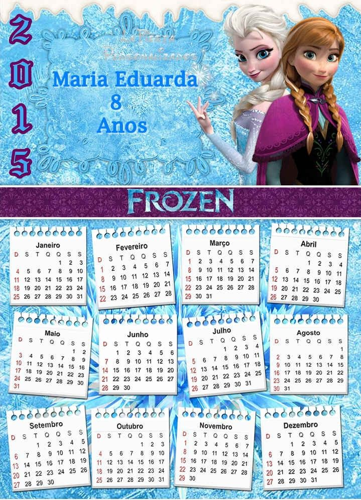 Which One Frozen Printable Monthly Calendar Is You Favorite In