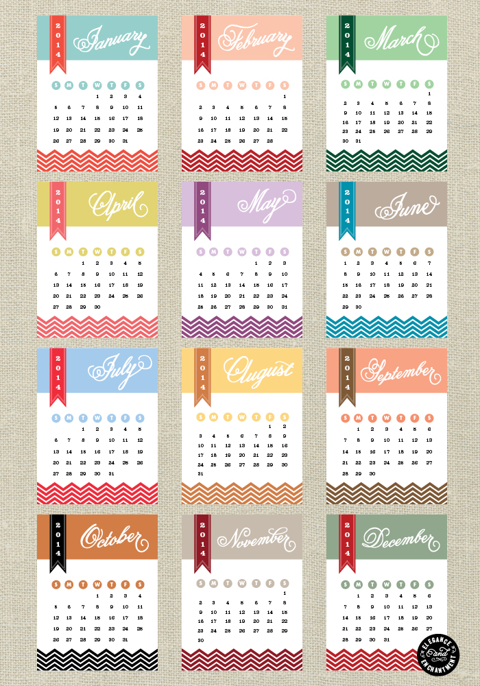 Yearly Calendar Design