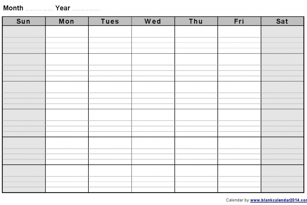 Your Printable Work Week Calendar