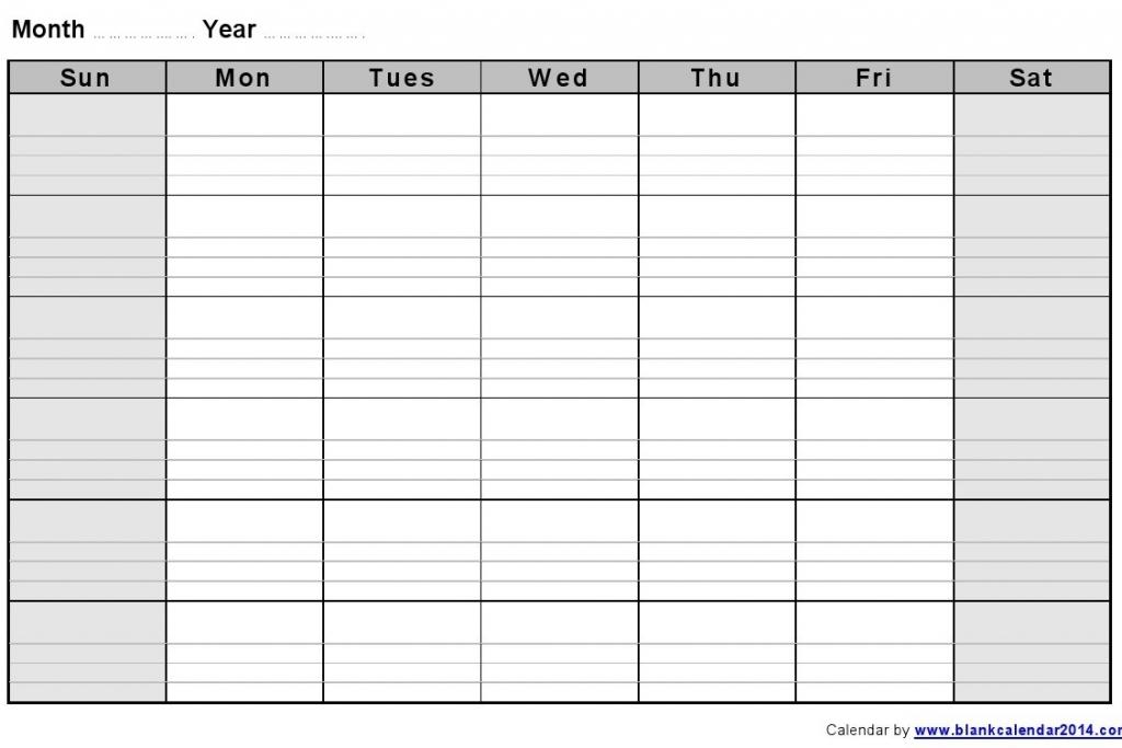 Printable Work Week Calendar » Calendar Template 2017