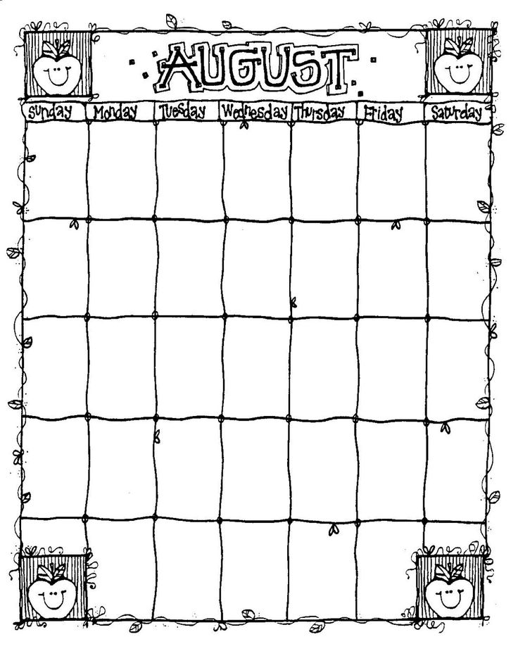 1000+ Ideas About Blank Calendar On Pinterest