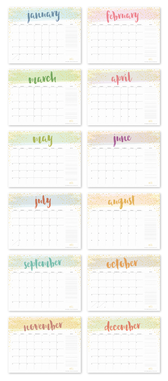 1000+ Ideas About Printable Calendars On Pinterest