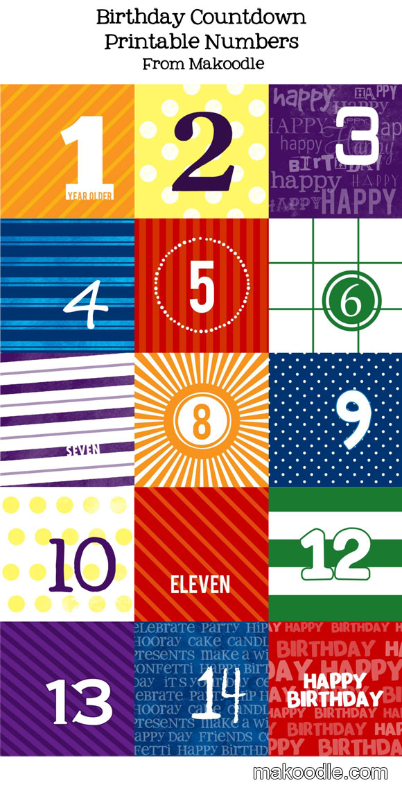 1000+ Images About Event Countdowns (printable) On Pinterest