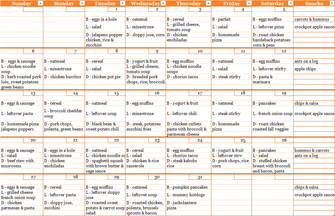 1000+ Images About Meal Plans On Pinterest