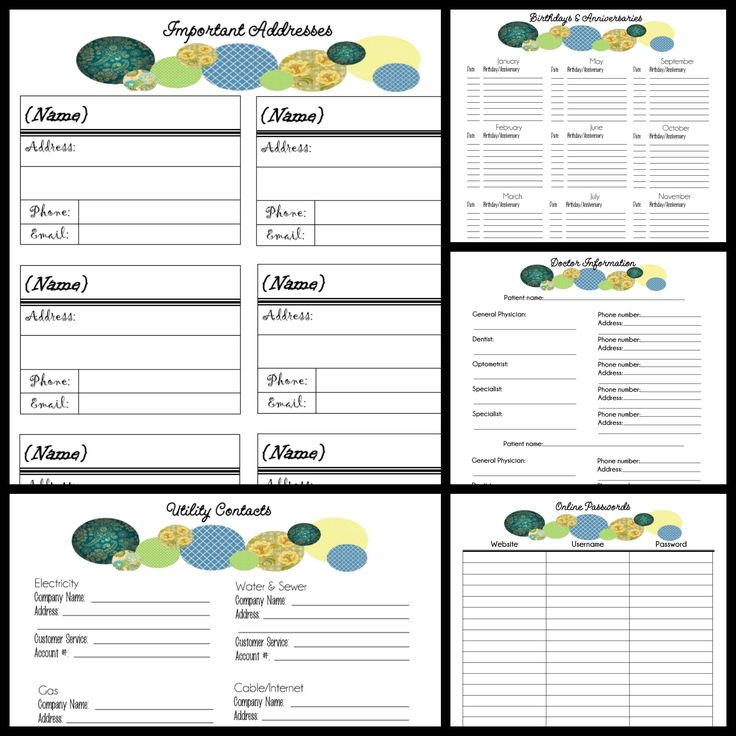 2014 Free Binder Printables ~ Pages Include   Schedule  Calendar