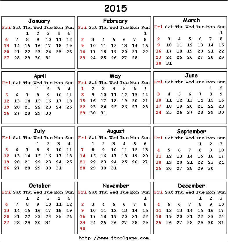 basic printable calendar