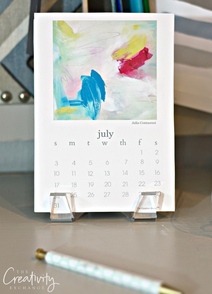 2016 Free Printable Calendar  Artist Collaboration Project