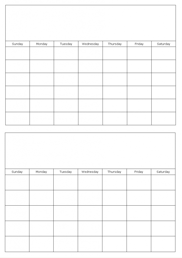 2016 Printable Monthly Calendar Two Months