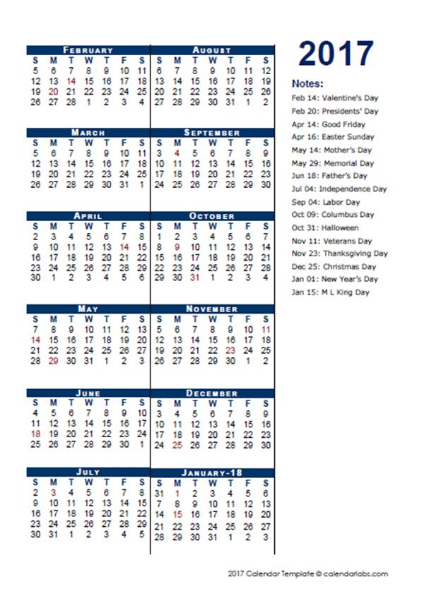 2017 Fiscal Period Calendar 4