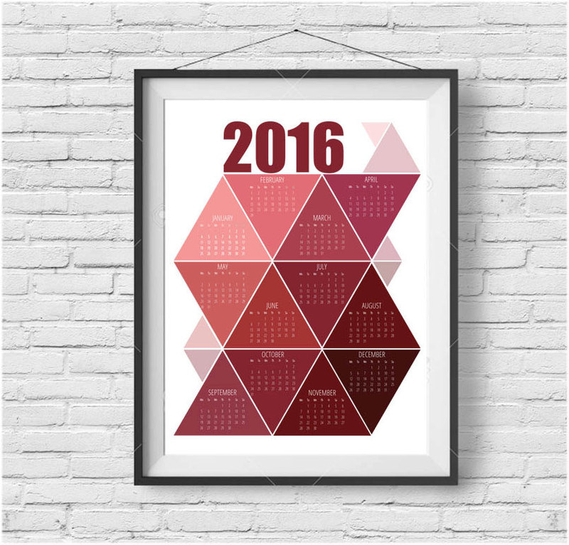 20 Of The Prettiest Printable 2016 Calendars