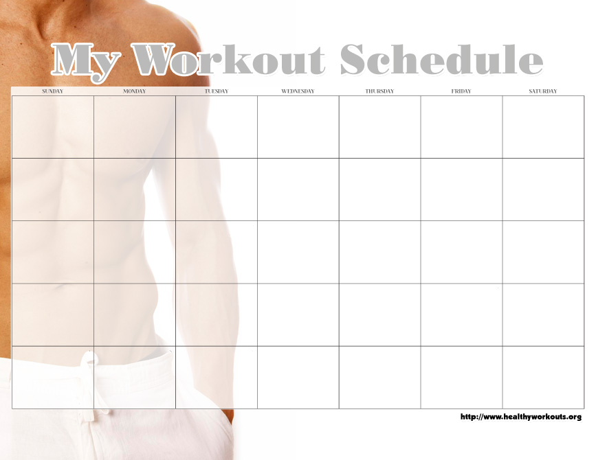 31 Free Printable Exercise Calendars