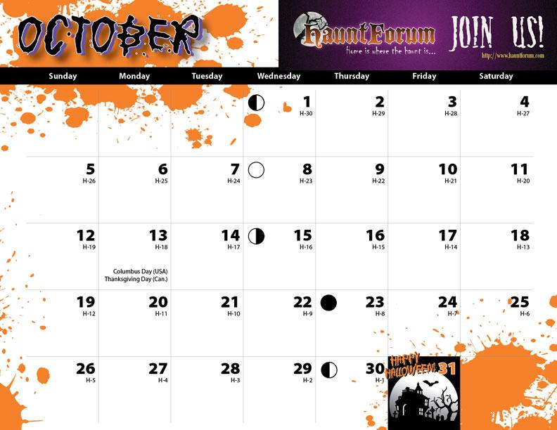 4 Best Images Of Printable Halloween Calendar