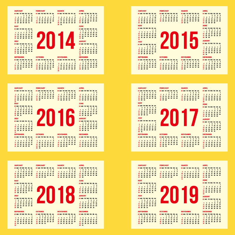5 Best Images Of 2019 Yearly Calendar Printable Free