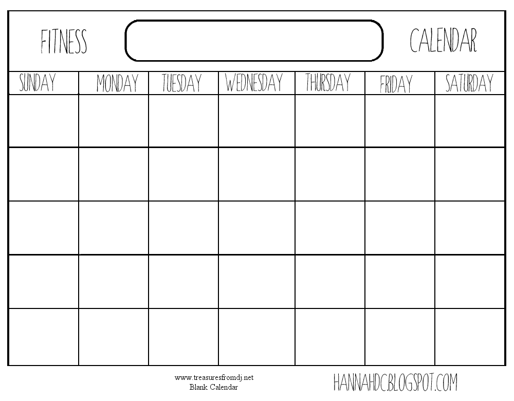 6 Best Images Of Printable Blank Calendar Chart