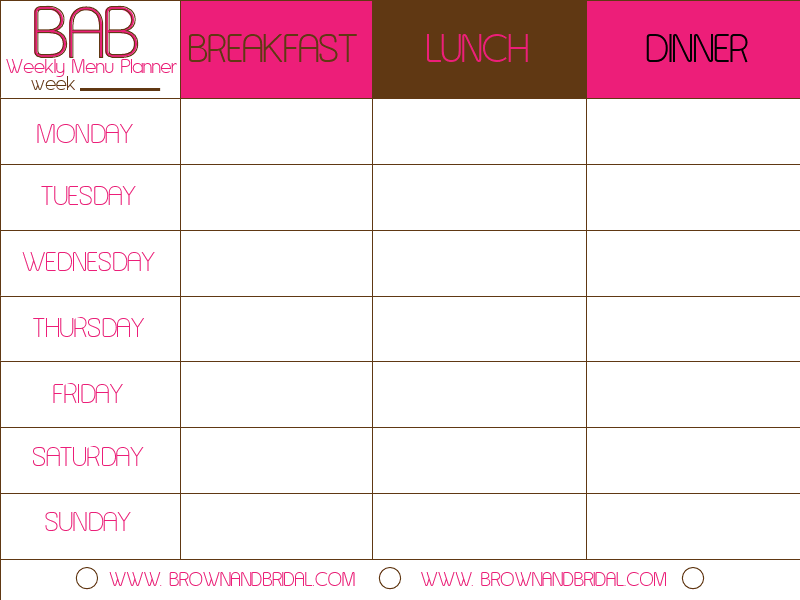 6 Best Images Of Printable Weekly Meal Calendar