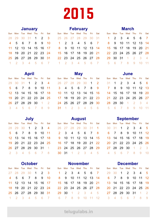 7 Best Images Of Free Printable 2015 Calendar Pdf