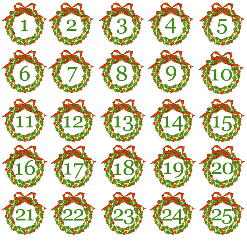 7 Best Images Of Printable Christmas Advent Numbers