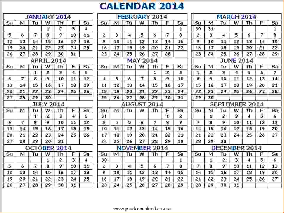 7+ Printable Pocket Calendar
