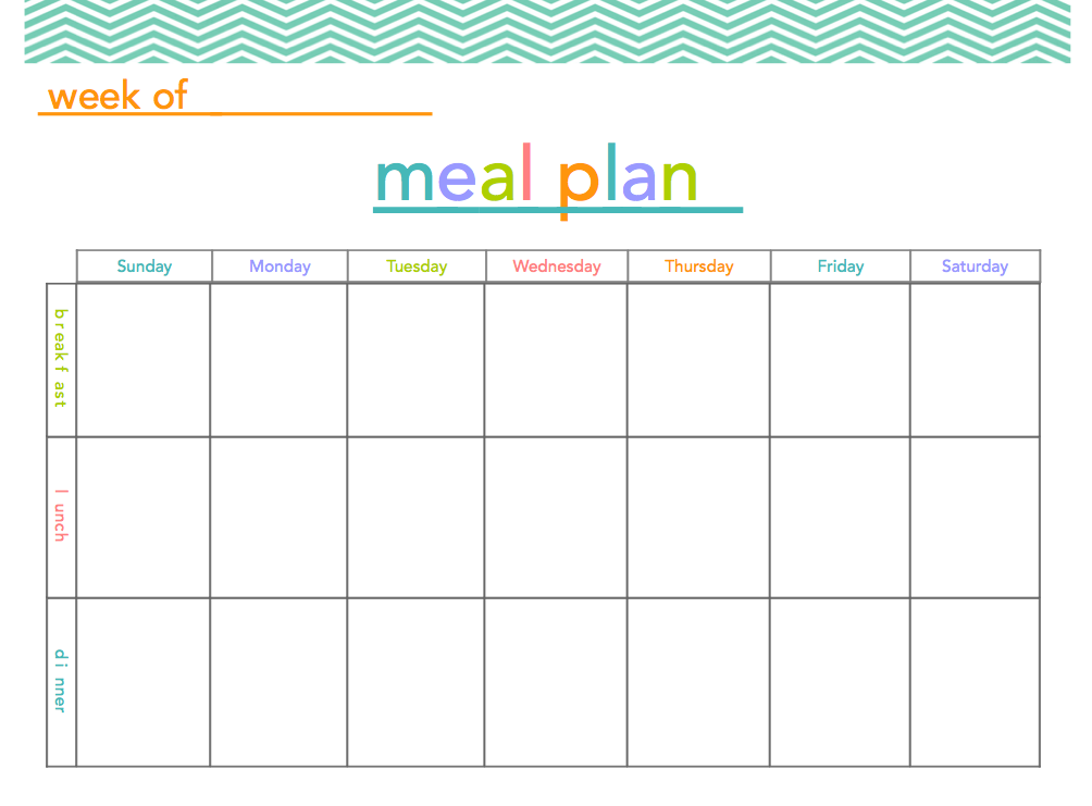 8 Best Images Of Meal Plan Calendar Printable