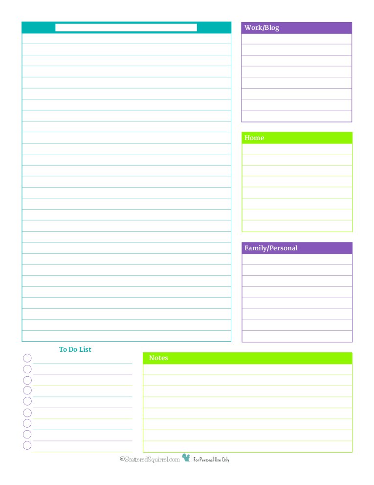 8 Best Images Of Printable Daily Planner With Times
