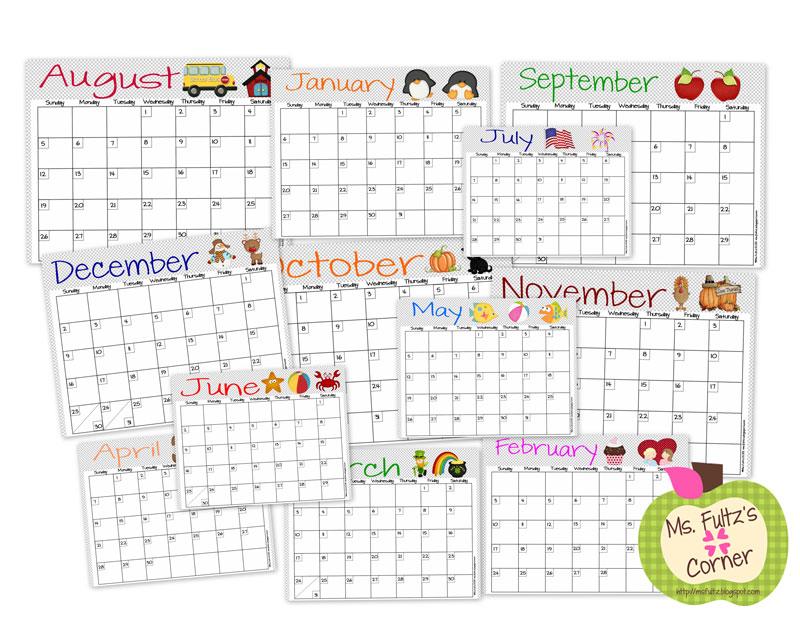 Adorable Classroom Calendars • Christi Fultz