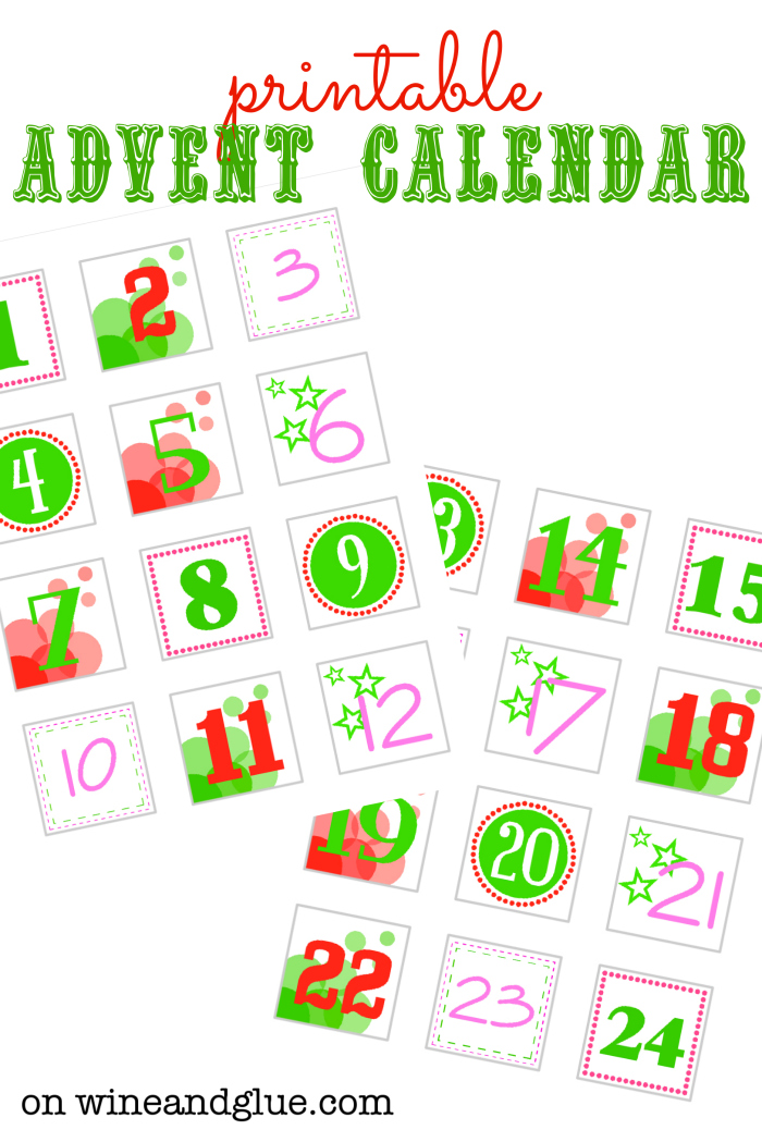Advent Calendar Card Free Printable — Crafthubs