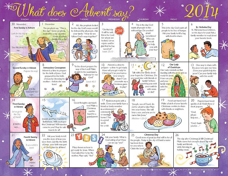 Advent Calendar List Ideas