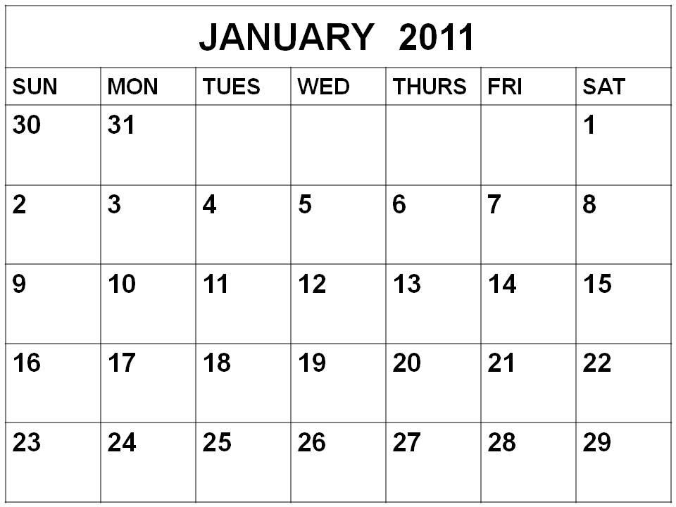 Antemno Raine  2011 Calendar With Holidays Printable