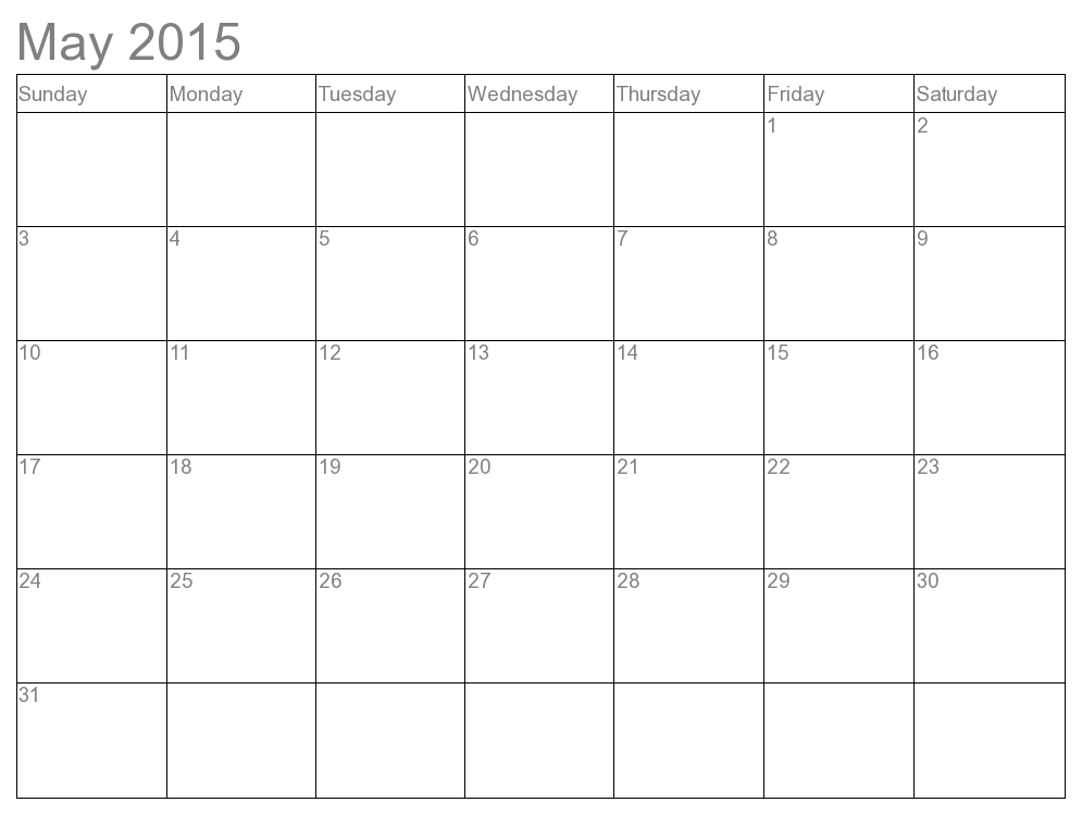Basic Calendar Template