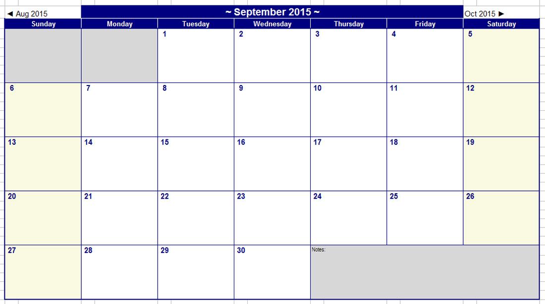 Best Photos Of Microsoft Blank Calendar Template 2015