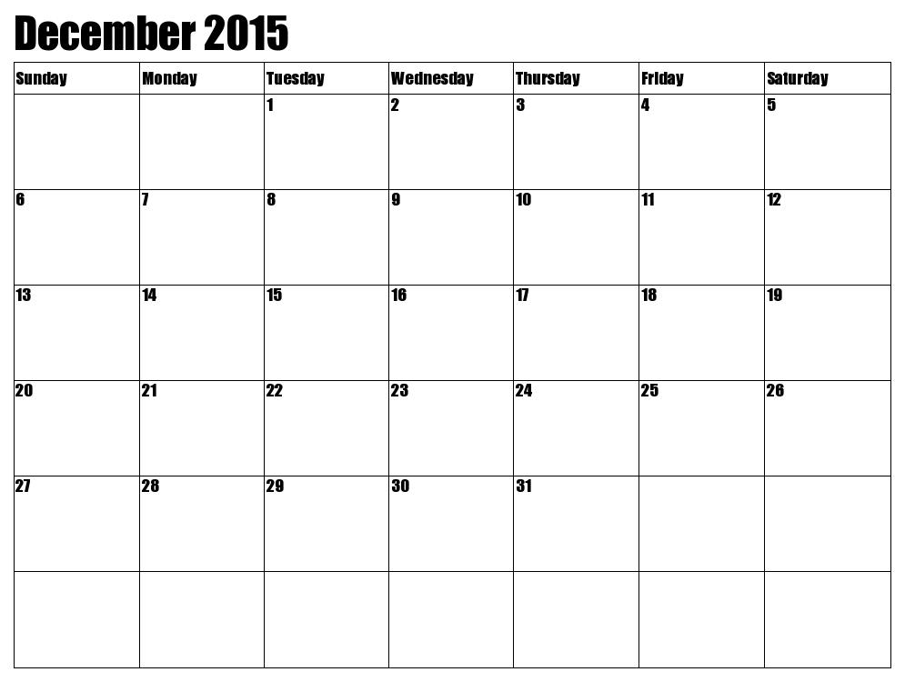 Best Photos Of Printable Calendar December 2015 January 2016