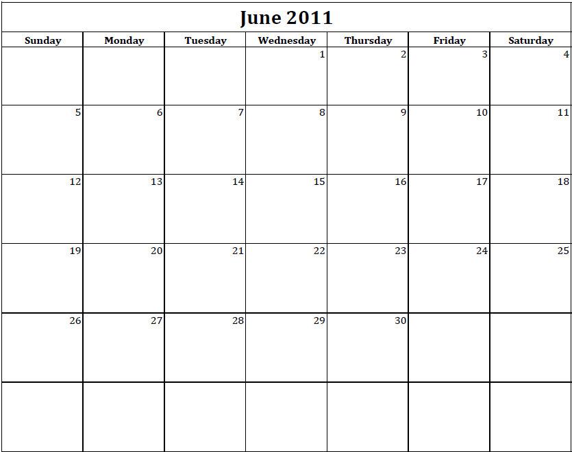 Best Photos Of Printable Weekly Blank Calendar 2011