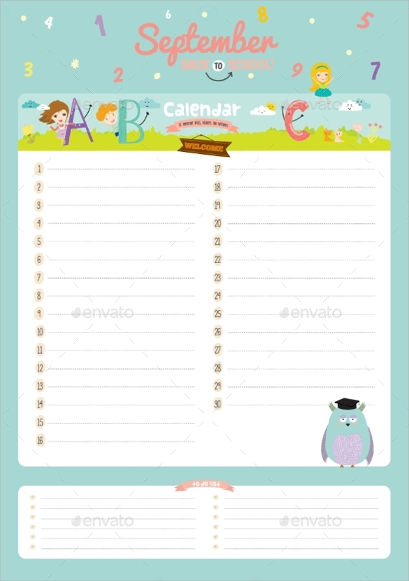 Birthday Calendar – 9+ Free Samples , Examples , Format