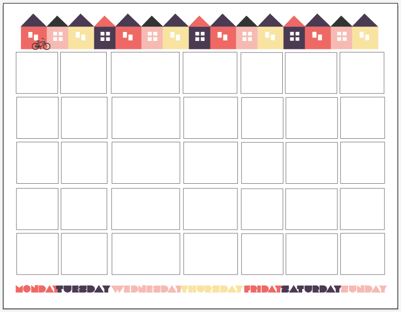 Birthday Calendar Countdown Printable