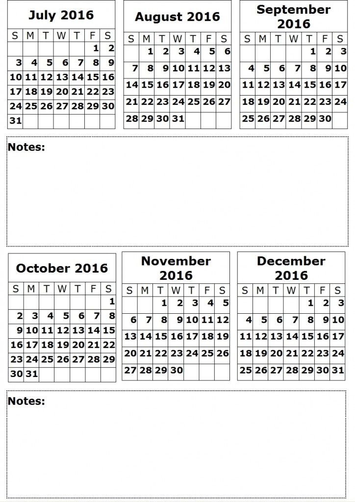 Calendar 6 2016
