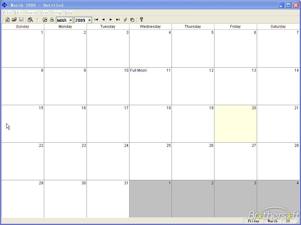 Calendar Print Program