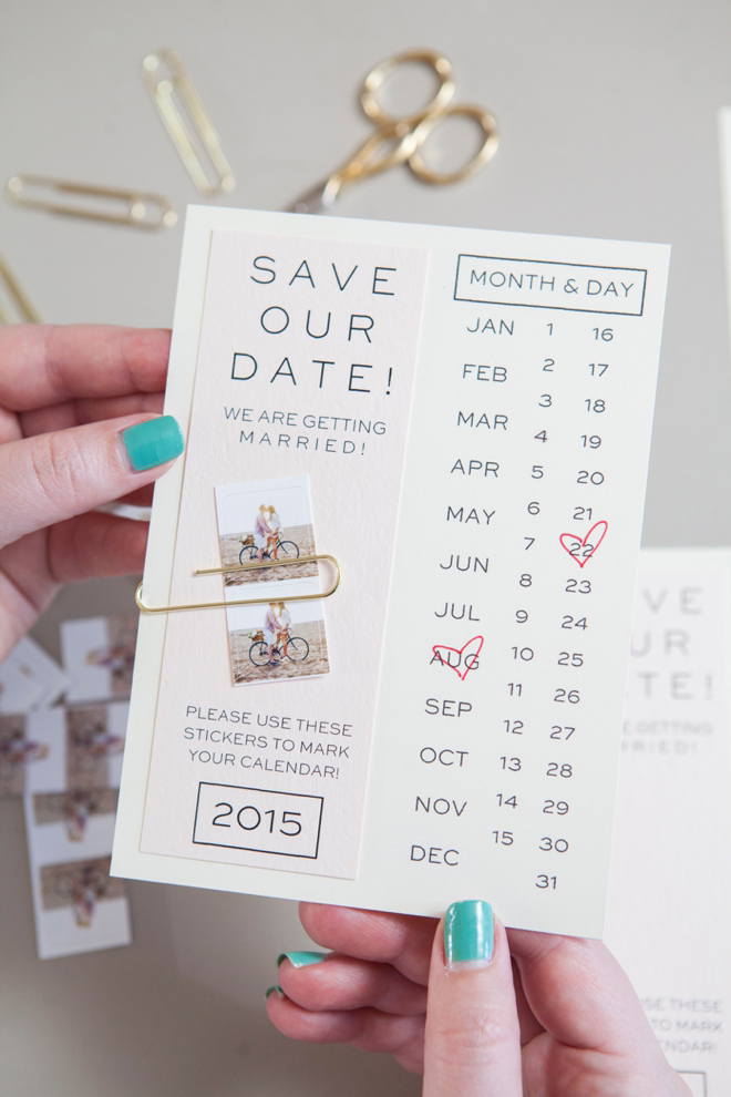 Calendar Save The Date Cards, Heart Date Save The Date Cards