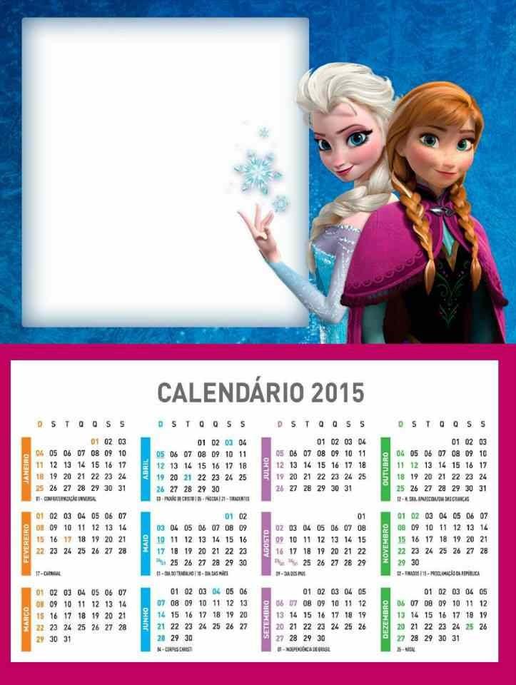 Cool 2015 New Year Disney Printable Frozen Weekly Calendar