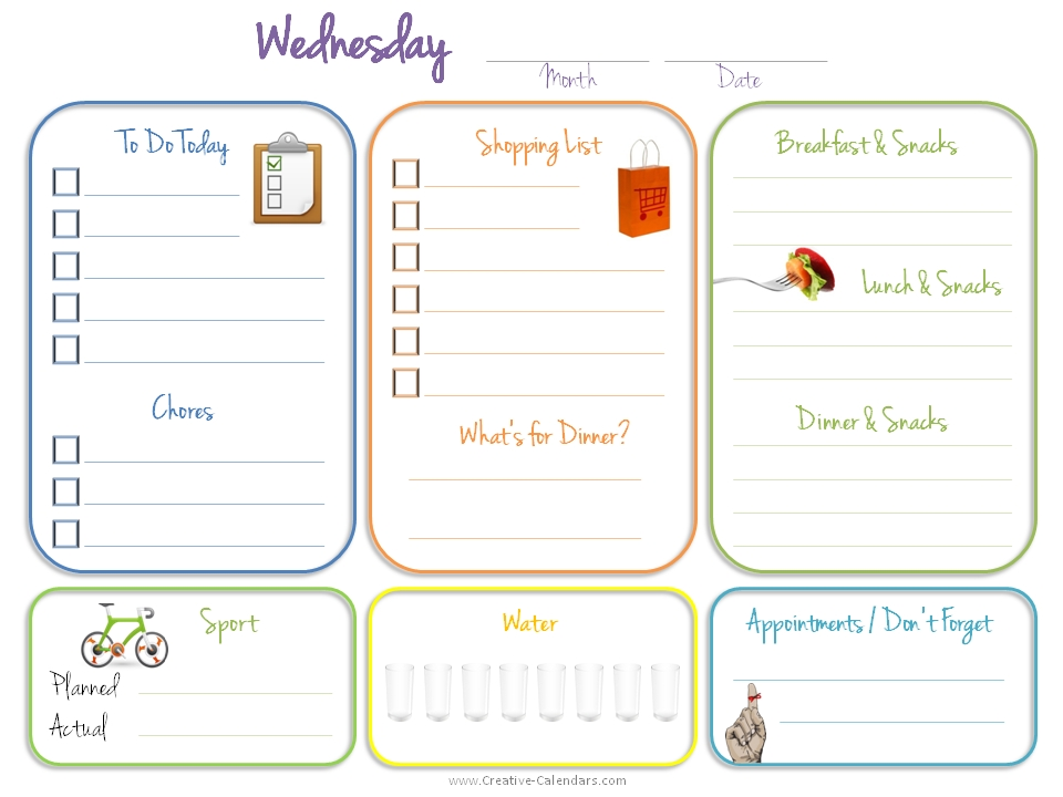 Daily Planner Template Free 2016  Day To Day Planner Template Free